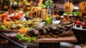Cuisine Culinary Buffet Dinner Catering Dining Food Celebration Party Concept. royalty free stock photo