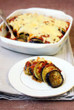 Aubergine, courgette tomato bake Royalty Free Stock Image