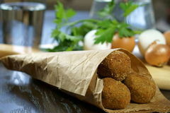 Aubergine croquettes Royalty Free Stock Image