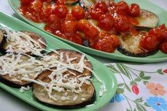 Aubergine cuite au four image stock