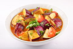 Aubergine curry dish . stock images