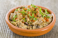 Aubergine Dip - Tapas Stock Photo