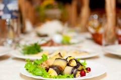 Aubergine dish Stock Images