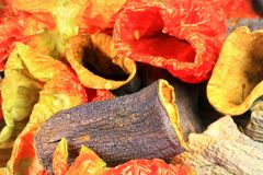 Aubergine. Dried aubergine in other vegetables for stuffing Dolma Royalty Free Stock Photos
