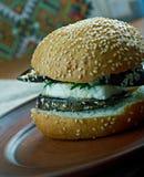 Aubergine et sandwich grillés à Portobello images libres de droits