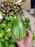 aubergine från morgonmarknaden bargan burma royaltyfria bilder
