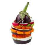 Aubergine with fresh vegetable Royalty Free Stock Photography