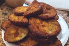 Aubergine frite Image libre de droits