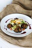 aubergine frite avec du foie Photo libre de droits