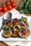 Aubergine with garlic Stock Images