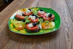 Aubergine grillée par Espagnol images stock