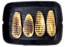 Aubergine and grill Stock Image