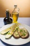 aubergine grillade zucchinis Fotografering för Bildbyråer