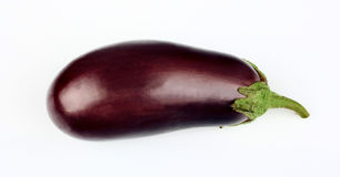 Aubergine isolated on white background Stock Photography