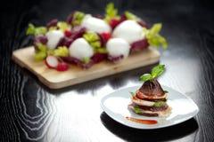 Aubergine italienne Parmiggiana Image stock