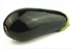 Aubergine op wit Stock Afbeelding