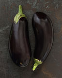 Aubergine. Organic Aubergines. Selective Focus. Shallow Depth of Field Royalty Free Stock Photos