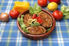 Aubergine Parmigiana Stock Images