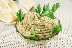 Aubergine pasta, baby ganoush Zdjęcia Royalty Free