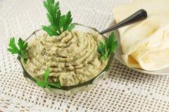 Aubergine pasta, baby ganoush Zdjęcie Stock
