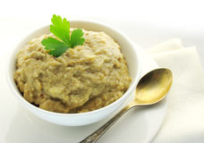 Aubergine paste Stock Photography