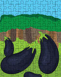 Aubergine puzzle pattern Stock Images