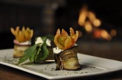 aubergine rolada zdjęcie stock