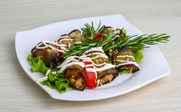 Aubergine roll Royalty Free Stock Image