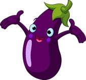 aubergine som presenterar något royaltyfri illustrationer