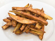 Aubergine strips baked and cooked in honey Stock Images