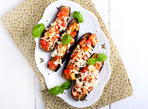 Aubergine and tomato melts Royalty Free Stock Photo