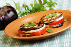 Aubergine towers royalty free stock photography