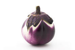 Aubergine variety. Eggplant isolated on textured white paper. Variety of aubergine Royalty Free Stock Images