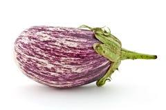 Aubergine variety. Eggplant isolated on textured white paper. Variety of aubergine Stock Photo