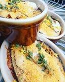 Aubergine Vegan печет с тимианом и крошками стоковые изображения rf