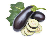 Aubergine vegetable. Ripe aubergine vegetable over white background Stock Images