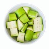 Aubergine verte Photos libres de droits