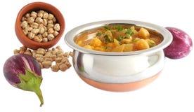 Auberginen-Curry Stockbilder