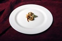 Auberginensalat Stockfotografie