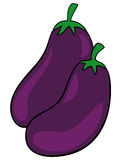 Aubergines. Royalty Free Stock Images
