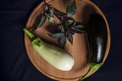 2 aubergines Stock Afbeelding