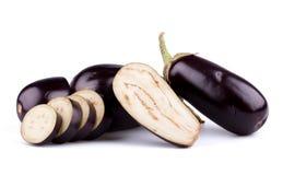 Aubergines of aubergines Stock Foto's