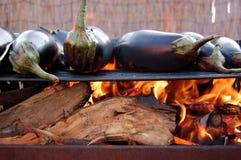 Aubergines bij de grill Royalty-vrije Stock Afbeelding