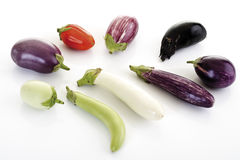Aubergines, close-up Royalty Free Stock Images