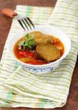 Aubergines cuites avec des légumes Image libre de droits