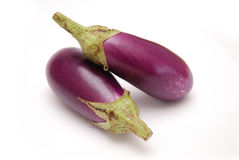 aubergines de chéri pourprées Photographie stock libre de droits