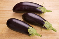 Aubergines or Eggplant Stock Photo