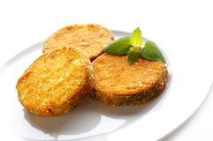 Aubergines frites Photos stock