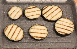 Aubergines grillées Photos libres de droits