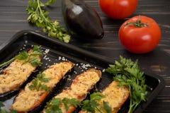 Aubergines grillées et cuites au four Image stock